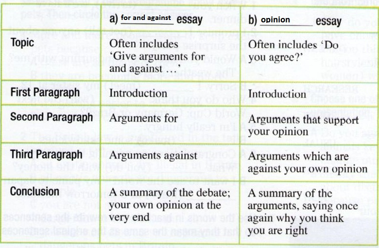 an opinion essays